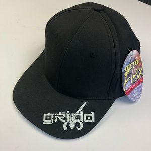 Other - Black Otto flex hat with white logo printed